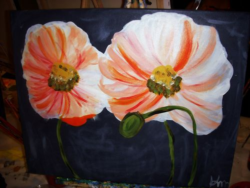 Flower-painting